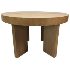 Cerused Oak James Mont Style Dining Table with Two Extensions