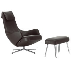 Vitra Standard Repos and Panchina in Chocolate Leather by Antonio Citterio