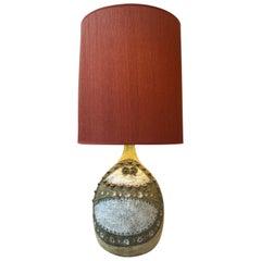 Big Zoomorphic Ceramic Lamp by Raphael Giarrusso, circa 1960-1970