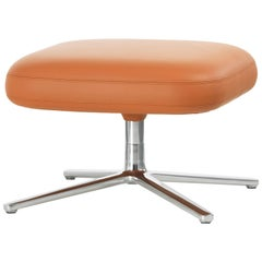 Vitra Repos Ottoman in Cognac Leather by Antonio Citterio