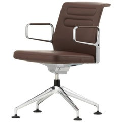Vitra AC 5 Meet Chair in Marron Leather by Antonio Citterio