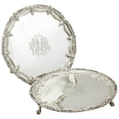 Georgian Sterling Silver Salvers by Robert Jones I