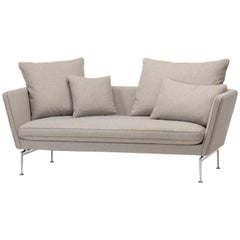 Vitra Suita Sofa Two-Seat in Fossil Cosy by Antonio Citterio