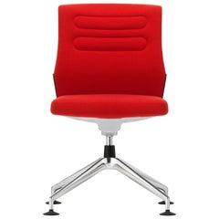 Vitra AC 5 Meet Chair in Poppy Red Plano by Antonio Citterio