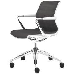 Vitra Unix Five-Star Base Chair in Nero/Nero Silk Mesh by Antonio Citterio