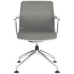 Vitra Unix Four-Star Base Chair in Dim Grey Silk Mesh by Antonio Citterio
