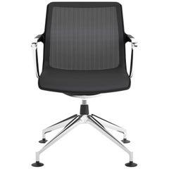 Vitra Unix Four-Star Base Chair in Dark Grey and Nero Plano by Antonio Citterio