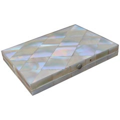 Stunning & Near Mint Condition Mid-19th Century Mother of Pearl Card Case / Box