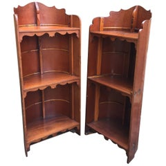 Pair of Early 20th Century Bookcases Made from Pembroke College, Oxford Eights