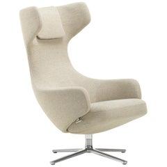 Vitra Grand Repos Lounge Chair in Beige Melange Dumet by Antonio Citterio