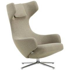 Vitra Grand Repos Lounge Chair in Rock Credo by Antonio Citterio