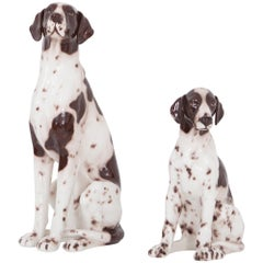 Ceramic 20th Century Pointer Dog Sculptures Madonna and Child