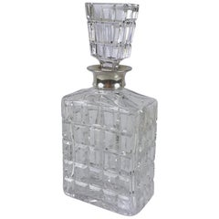 Wolfers Freres Crystal Decanter and Lid with Silver Collar
