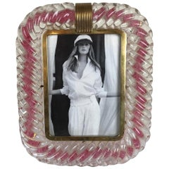 Barovier & Toso Murano Hand Blown Glass Photo Frame