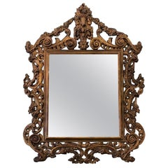19th Century Rococo Carved Wall Mirror