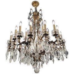 Monumental 24-Lamp Crystal Italian Chandelier
