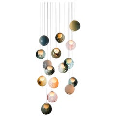 Bocci 28.16 Random Chandelier with 16 Color Globes/Square or Rectangular Canopy