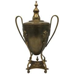 1980s Italian Brass Lidded Urn
