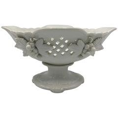 1960s Blanc de Chine Porcelain Compote Bowl