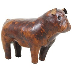 Dimitri Omersa Leather Bulldog for Abercrombie and Fitch