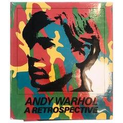 """Andy Warhol a Retrospective"" 1989 MoMA Exhibition Collector's Art Book"