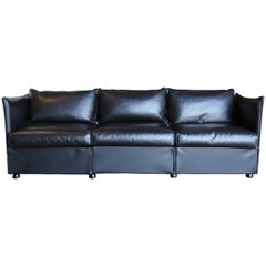 Leather Char-a-Banc Sofa by Mario Bellini for Cassina