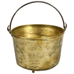Early 19th Century Brass Log Bin
