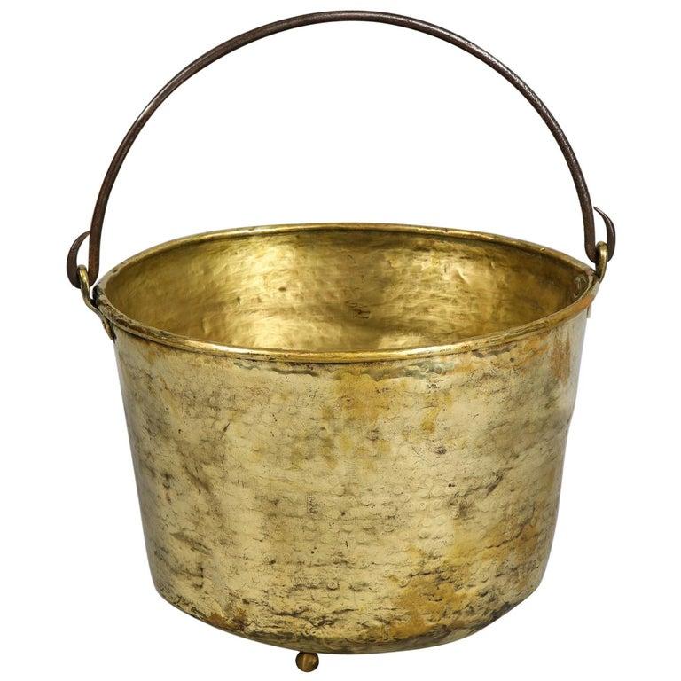 Early 19th Century Brass Log Bin For Sale