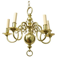 1930s Brass Chandelier