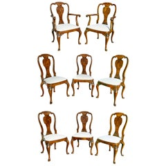 Set of Eight George I Style Walnut Dining Chairs