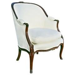 Louis XV Style Walnut Bergere