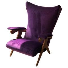 Zanine Caldas, Spectacular High Back Vintage Armchair