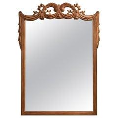 Hollywood Regency Grosfed House Ribbon and Tassle Form Mirror