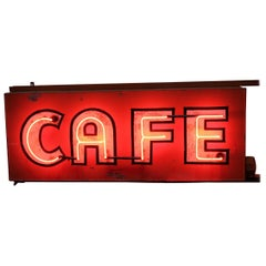 1930s Double Sided Neon Sign CAFE