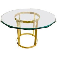 Fontana Arte Gilt Bronze and Glass Center Table