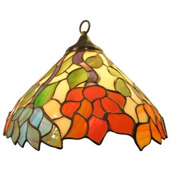 Tiffany Style Colored Glass Pendant Lamp