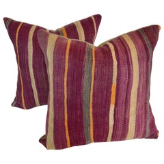 Custom Pillows cut from a Vintage Moroccan Wool Rug, Atlas Mountains