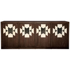 Capistrano Credenza in Chocolate and Onyx Finish by Badgley Mischka Home
