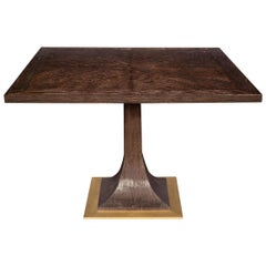Capistrano Dining Table in Chocolate & Onyx Finish by Badgley Mischka Home