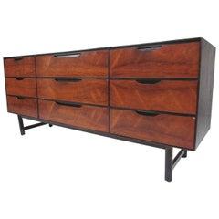 Mid-Century Modern Nine Drawer Credenza by Stanley Furniture