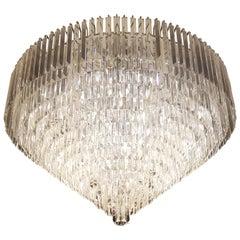 Modern Plafonnier Crystal Chandelier Low Ceiling Lamp Chrome Silver