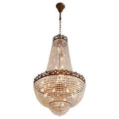 Montgolfiè Antique Lok Crystal Chandelier Empire Sac a Pearl Lamp Chateau Lustre