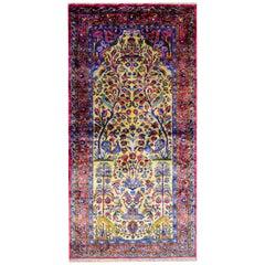 Beautiful Early 20th Century Silk Kashan Rug