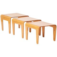 Marcel Breuer Plywood Nesting Tables for Isokon in 1930s, Set of Three