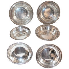 Sterling Silver Bon Bon Bowls / Collection of Six