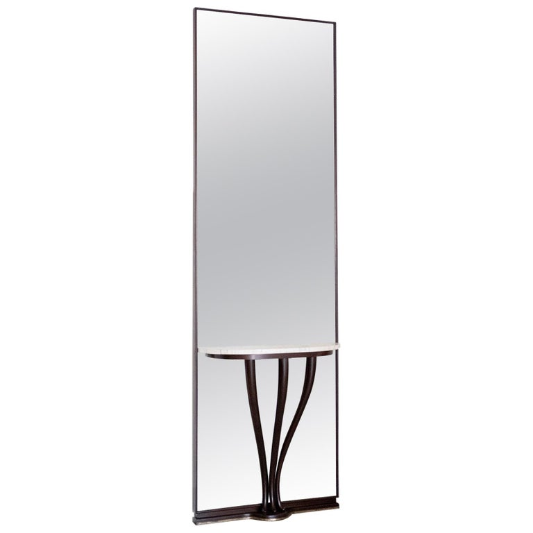 Gigantic Entry Mirror Attributed to Fontana Arte For Sale