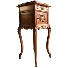 Fabulous Antique French Bedside Table Nightstand Marble Victorian, 1875