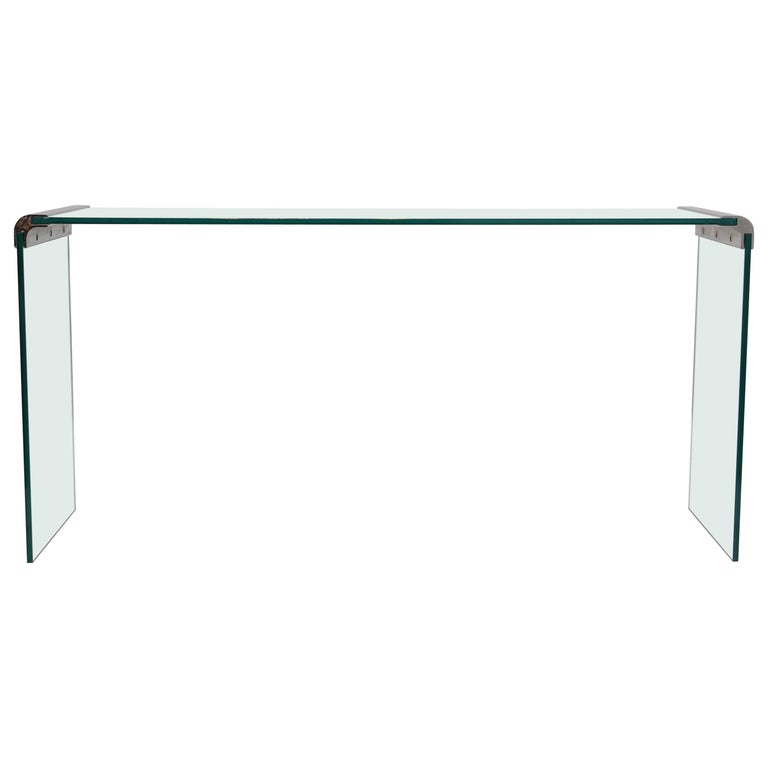 Pace Collection Waterfall Console Table For Sale