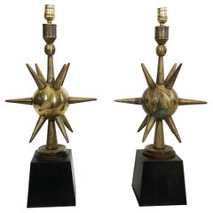 Pair of Atomic Table Lamps