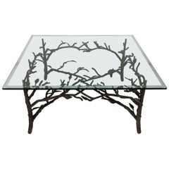 Faux Bois Coffee Table in the Style of Giacometti